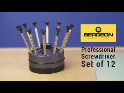 Bergeon Watchmaker's Screwdriver Set of 12 - 7965-S12