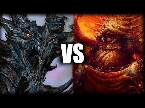 Alduin vs Mehrunes Dagon - Elder Scrolls Discussion
