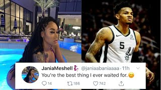 """JANIAMESHELL MAKES IT OFFICAIL WITH NBA PLAYER DEJOUNTE MURRAY👩❤️👨AFTER REMOVING THE """"TATTOO""""👀"""