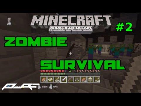 Minecraft Xbox 360: Zombie Survival Part 2! W/ Download