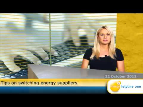 Tips on switching energy suppliers