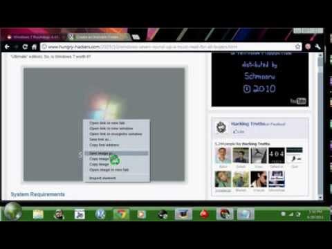 How to change your theme on Windows 7 Starter, Make a hidden folder,Change desktop image ETC.