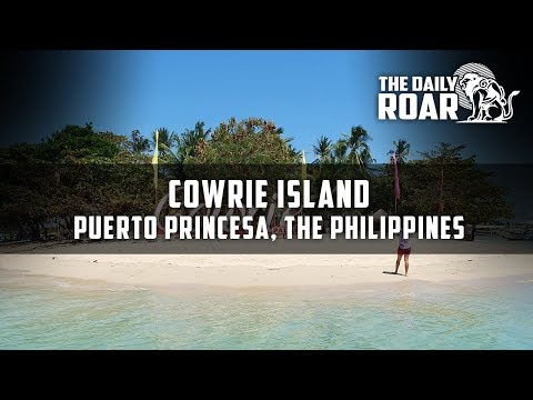 A tour on Cowrie Island of Puerto Princesa, Palawan in The Philippines