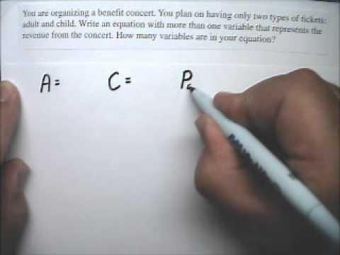 Equation Story Problem 55 Concert Tickets - Tutor Algebra