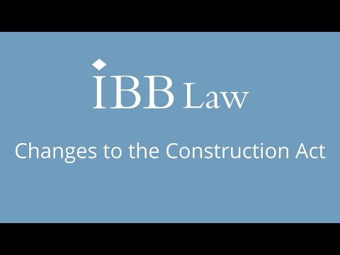 Changes to the Construction Act by Paul Brampton
