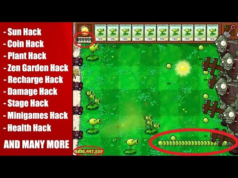 How to Hack Plants vs Zombies By Cheat engine  unlimited money & sun,one shot kill & etc