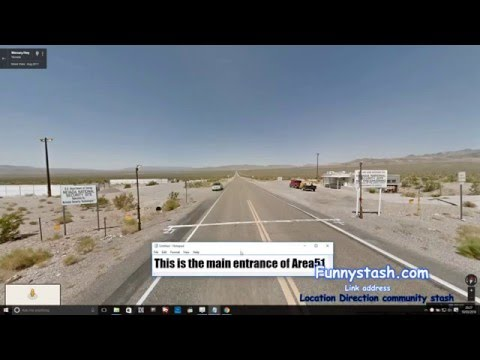 UFO Roswell Area51 Google Maps