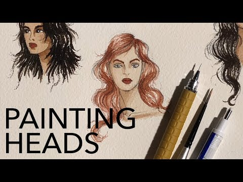 Painting Small Scale Heads in Watercolor
