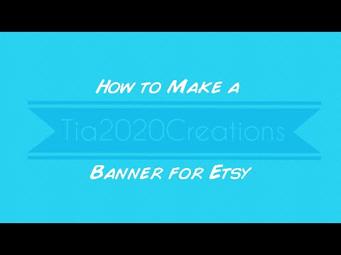 How to Make a Banner for Etsy