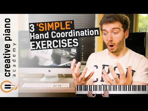Playing piano with both hands: 3 SIMPLE hand coordination exercises [Hand Independence]