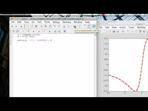 MATLAB Command Line Plotting: Simple example