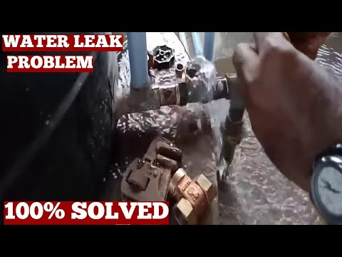 How To Fix Water Tank Valve Leak-Fixing Water Valve Outlet Without Full Change Of Old Leaky Valve