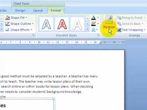 MS Word 2007: Formatting Text Wrapping