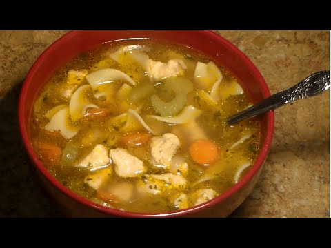 CHICKEN NOODLE SOUP RECIPE: Homemade Chicken Noodle Soup From Scratch