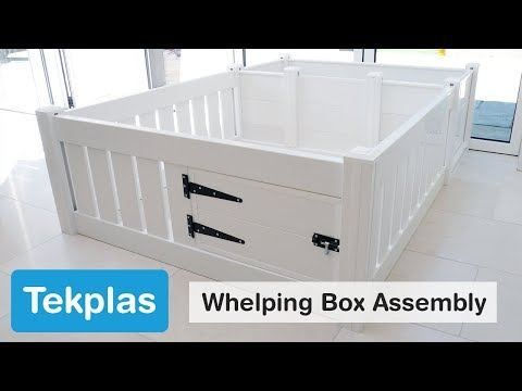 Tekplas Plastic Whelping Box and Puppy Playpen Assembly