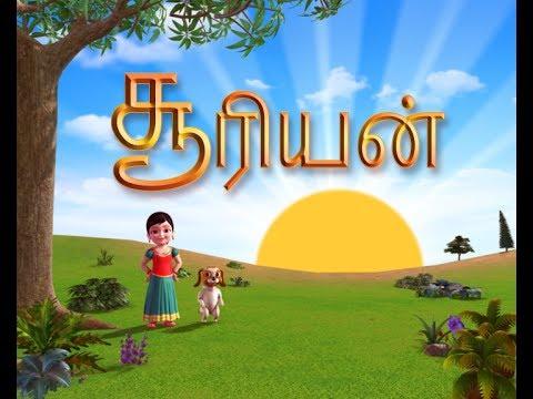 Sooriyan - Tamil Rhymes 3D Animated (Learn Directions)