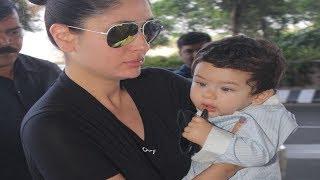 Taimur Ali Khan steals the show from mom Kareena @ Airport
