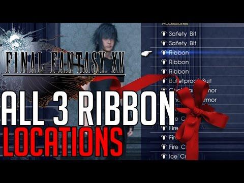 Final Fantasy XV ALL 3 RIBBON ACCESSORY LOCATIONS