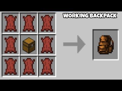 Minecraft PE: Working BackPack Tutorials