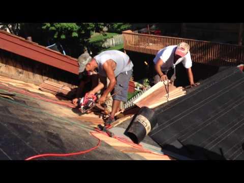 Eric Rogers Roofing Cedar Wood Shake Roof Installation
