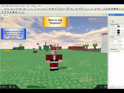 The basics of using explorer on roblox
