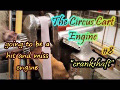 The Circus Cart Engine crankshaft polishing #8