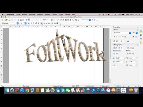 Comment faire des dégradés de couleurs & styles de texte sur OpenOffice