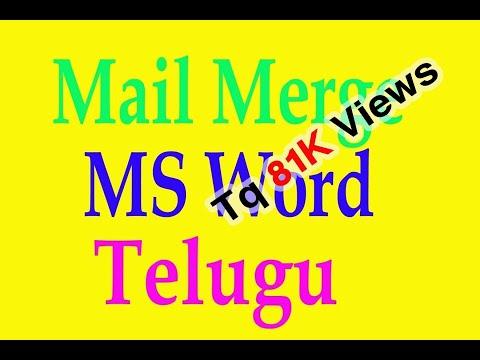 Mail Merge in MS Word Telugu