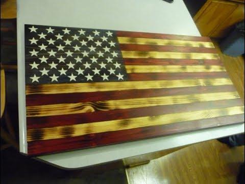 Making a Charred Wood American Flag