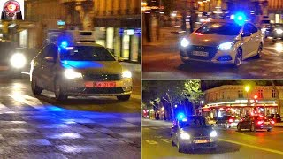 Voitures de police banalisées Compilation sirènes // Unmarked Police Cars Responding