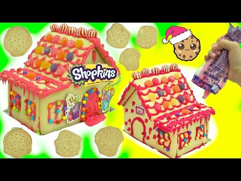 DIY Shopkins Rainbow Candy Christmas Cookie House  Kit - Cookieswirlc Video