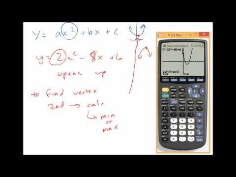 4.1 Quadratic Functions in Standard Form (vertex, max or min?)