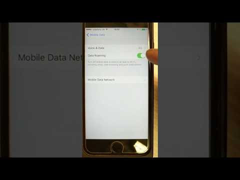 How to switch off Mobile/Cellular Data Roaming on iPhone (UK devices)