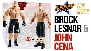 "WWE FIGURE INSIDER: Brock Lesnar & John Cena - WWE Battle Packs ""SummerSlam 2016"" From Mattel"
