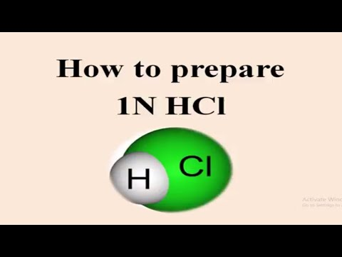 1N and 0.5 N hydrochloric acid (HCl) preparation in Hindi