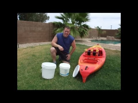 How To Build A $5 Cooler For Your Kayak Part #1 DIY