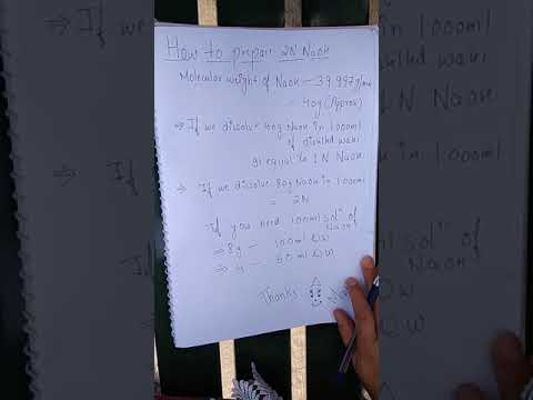 Easiest method to calculate 2N and 1N NaOH