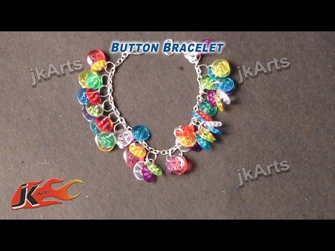 DIY  Button Bracelet  | How to make Wrist Belt | JK Arts 341