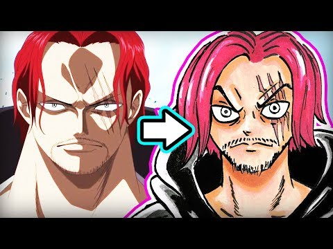 DRAWING SHANKS FROM ONE PIECE!  (Art Tips, Talking One Piece 907 & Reasons Why I Love This Manga)