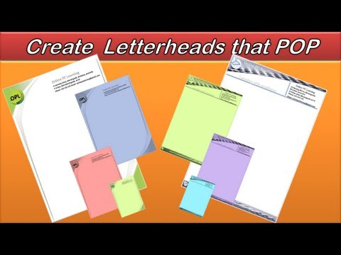 Letterhead - Create an Awesome Letterhead - Word 2010/2013 - Example 2
