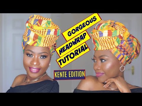 BEST HEAD WRAP TUTORIAL EVER -  Kente Edition 1 of 6 Styles
