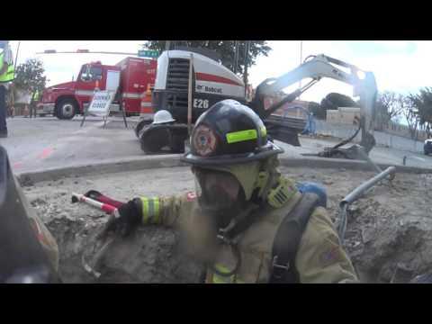 City of Miami fire-rescue hazmat team GAS LEAK 4 21 16 A SHIFT