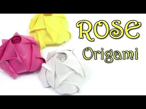 Origami ROSE Beautiful easy simple | Cómo hacer una rosa de origami - Origami easy tutorial
