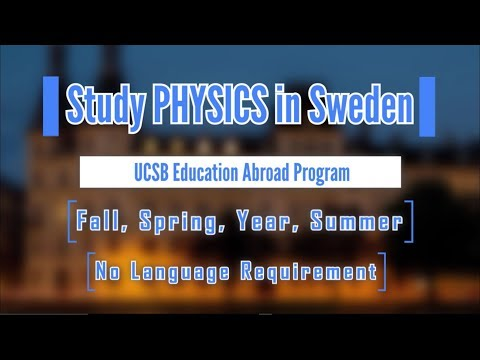 Study Abroad in Sweden, Physics Majors!