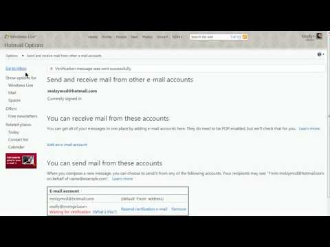 Using your own email address with Hotmail