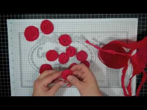 How to make Crepe Paper Rosettes