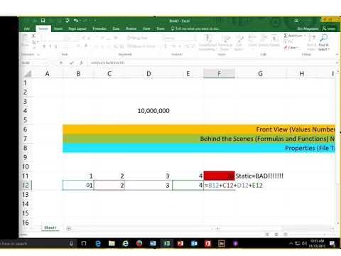 An Introduction to The Language of Excel (The Numbers DON'T Matter)