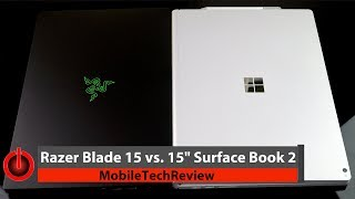 """Razer Blade 15 vs. 15"""" Microsoft Surface Book 2 Comparison Smackdown"""