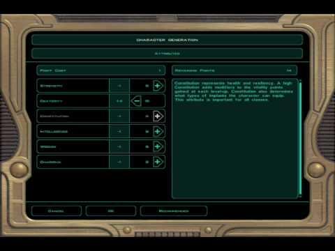 Star Wars KOTOR 2 PC Jedi Sentinel Creation Walkthrough