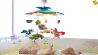 Best SHILOH Baby Developmental Crib Toy With Arm and Musical Mobile Blue Sky